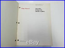 1977 Cummins KT/KTA-1150 6 Series Diesel Engines Shop Manual OEM