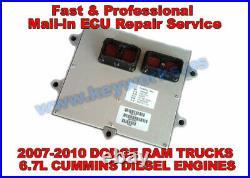 2007-2010 Dodge Ram Trucks 6.7l Diesel Cummins Engine Ecu, Ecm, Pcm Repair Service