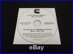 2010-2016 Cummins ISX QSX15 Signature Diesel Engine Repair Service Manual DVD