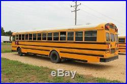 2011 Thomas School Bus Flat Nose Front Engine 6.7L Cummins Diesel Blue Bird
