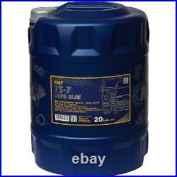 20 Liter MANNOL TS-7 UHPD Blue 10W-40 API CJ-4 Motoröl synthetisch Engine Oil