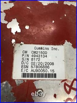 4943134 Cummins Isl Isb Diesel Engine Computer Ecu # 5738