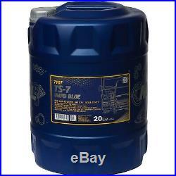 5x 20 Liter MANNOL TS-7 UHPD Blue 10W-40 API CJ-4 Motoröl synthetisch Engine Oil