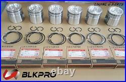 6 ENGINE PISTON & Ring Set 0.5mm 0.02' Oversize For Dodge 6.7L Cummins 07-17