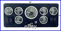 7 GAUGES Cummins Diesel Engine Marine instrument panel Fully wired 100% USA Made