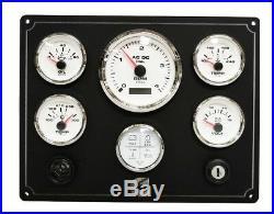 CUMMINS Diesel Engine instrument panel, Pre Wired 100% USA Made -6 Gauges white