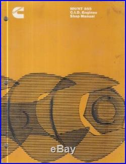 CUMMINS NH NT SERIES 855ci 6-CYL DIESEL ENGINE ORIG 1978 FACTORY WORKSHOP MANUAL