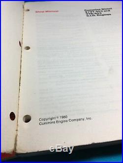 CUMMINS V VT-378 504 555 & V/VT 903, 903 CID Diesel Engine Shop Service Manuals