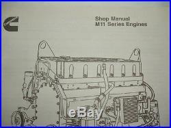 Clean Cummins Diesel Factory SHOP MANUAL M11 Series Engines Service Repair OEM
