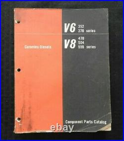 Cummins 352 375 V6 470 504 555 V8 Diesel Engine Parts Manual Catalog Very Good