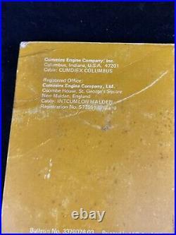 Cummins 855 Nh Nt Nta Shop Service Diesel Engine Manual 1978
