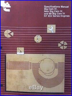 Cummins Big Cam IV, 88 Big Cam IV, NT 855 Diesel Engine Specifications Manual