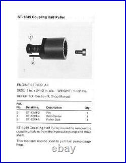 Cummins Diesel Engine Hydraulic & Fuel Pump Driveshaft Specialty Tool ST-1249