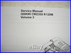 Cummins Diesel SERVICE MANUAL QSK95 CM2350 K128M Engine Shop Complete 4 VOL Set
