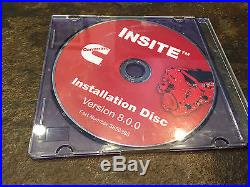 Cummins Engine Diesel INSITE v8.0.0 Diagnostic Service Manual DVD 8.0