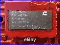 Cummins Isx15 Ecm Ecu Part#4993120 Cm2250 Cpl 6306 Diesel Engine Computer 600hp
