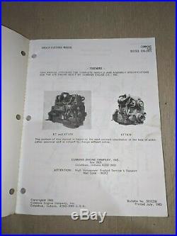 Cummins K19 Series KT19 KTA19 KTTA19 Diesel Engine Service Specifications Manual