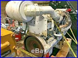 Cummins Kta19 Marine Diesel 500 HP Running Engine 11,000 Hrs Since Overhaul