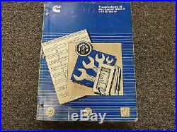 Cummins L10 Diesel Engine Shop Service Repair & Troubleshooting Manual Book