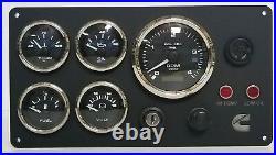 Cummins Marine Engine Instrument Panel, Pre wired USA Made
