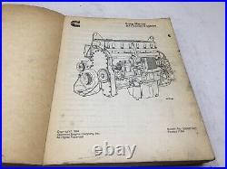Cummins Model M11 Diesel Engine Shop Service Repair Manual Book Free Ship