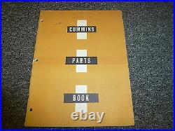 Cummins NH180 NH195 NH220 NHE180 NHE195 Diesel Engine Parts Catalog Manual Book