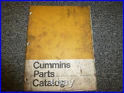 Cummins NTC290 NTC355 NTC350 NTA NT NTC Diesel Engine Parts Catalog Manual