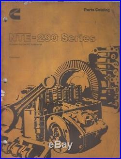 Cummins Nte-290 Series Big Cam Diesel Engine Orig. 1977 Factory Parts Catalogue