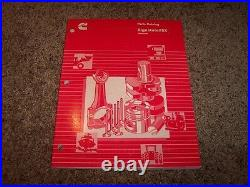 Cummins Signature ISX Automotive Diesel Engine Factory Parts Catalog Manual