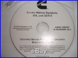DISC 2013 Cummins Diesel Factory SERVICE MANUAL Signature ISX QSX15 Engines Shop