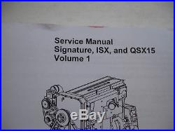 cummins qsx 15 operation service repair owners manual
