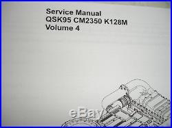 DISC Cummins Diesel SERVICE MANUAL QSK95 CM2350 K128M Engine Shop Complete 4VOLS