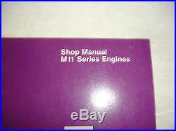 EC Cummins Diesel Factory SHOP MANUAL M11 Series Engines Service Repair OEM