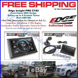 Edge 86100 Insight PRO CTS2 Store 4 Custom Tunes 1996-2017 Ford Dodge Ram GMC