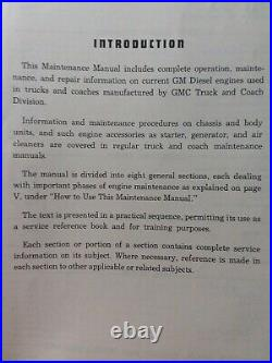 GM Detroit General Motors 2-71 4-71 6-71 Diesel Truck Engine Service Manual 1952