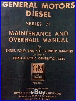 General Motors 71 Series 371 471 671 Diesel Engine Service Shop Manual Generator