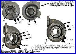 Holset Turbo HE351VE ISB Turbine Housing Assembly Cummins Diesel Engine 4041504