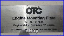 Otc 1750a Revolver Diesel Engine Stand 218098 B Cummins Engine Adapter