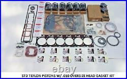Performance Rebuild STD TEFLON 94-98 Cummins 5.9 12V With THICK. 010 HEAD GASKET