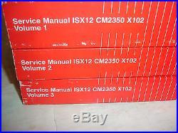 RARE Cummins Diesel Factory SERVICE MANUAL ISX12 CM2350 X102 Engines Shop 3 VOLS