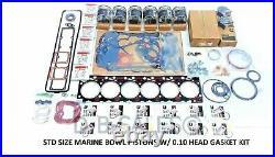 Rebuild TEFLON STD Size Marine Bowl 94-98 12V Cummins. 010 OVERSIZED HEAD GASKET