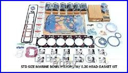 Rebuild TEFLON STD Size Marine Bowl 94-98 12V Cummins. 020 OVERSIZED HEAD GASKET