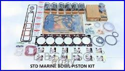 STD TEFLON Marine Bowl Overhaul Performance Rebuild for 94-98 Cummins 5.9 12V