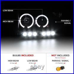 Sinister Black LED Halo Headlights Taillights Third Brake Cargo 02-05 Ram Cummin